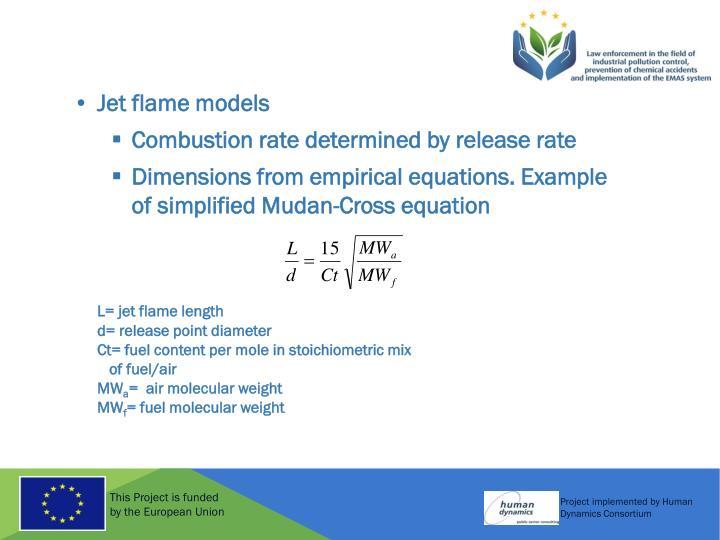 Jet flame models