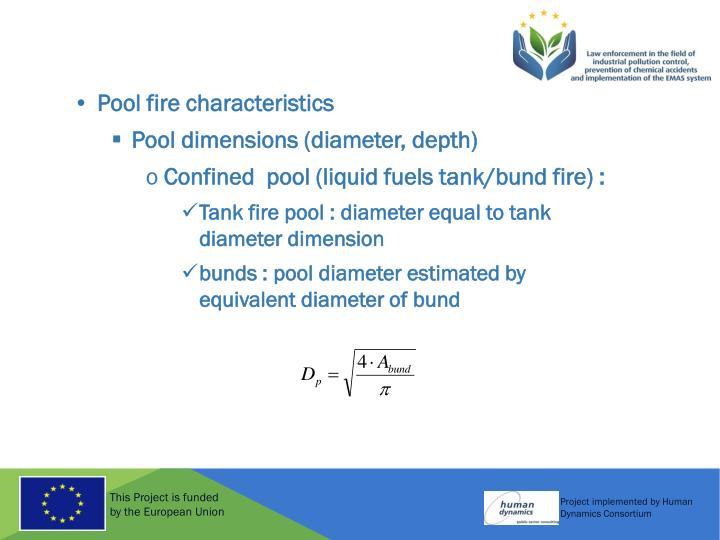 Pool fire characteristics
