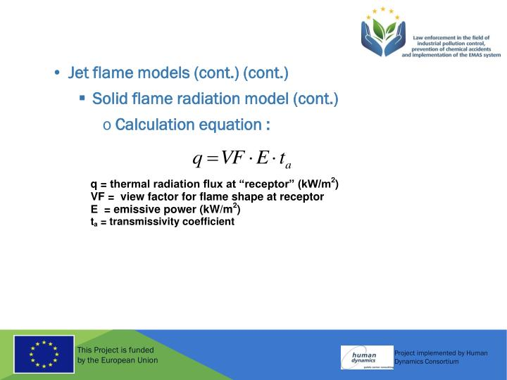 Jet flame models (cont.) (cont.)