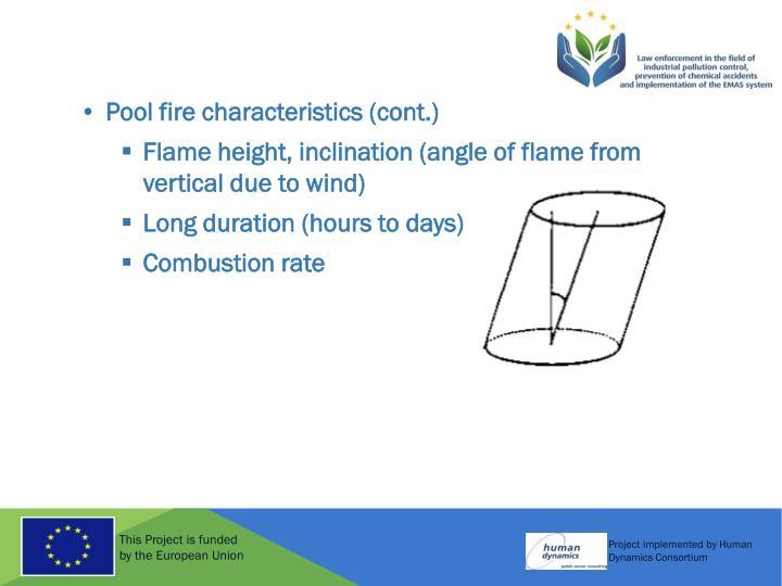Pool fire characteristics (cont.)