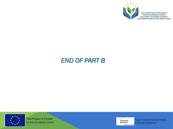 END OF PART B