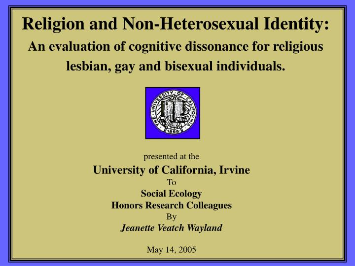 Religion and Non-Heterosexual Identity: