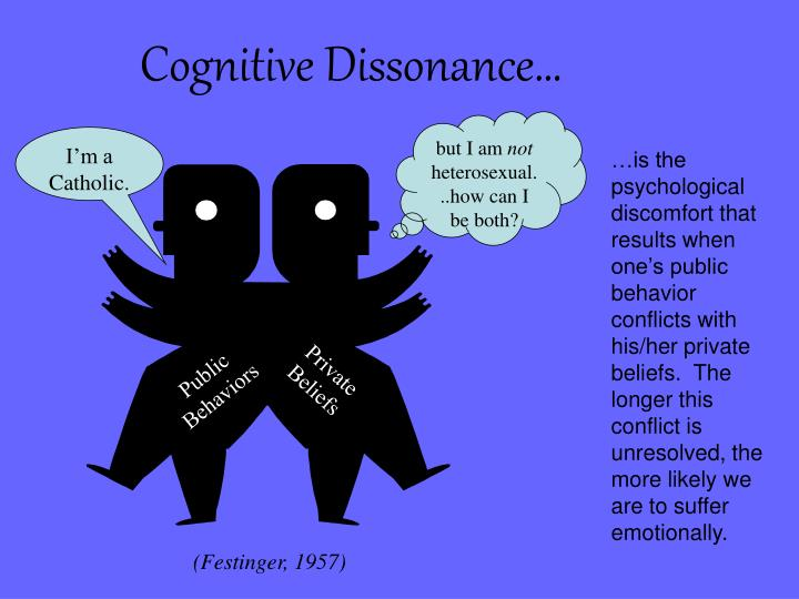 Cognitive Dissonance…