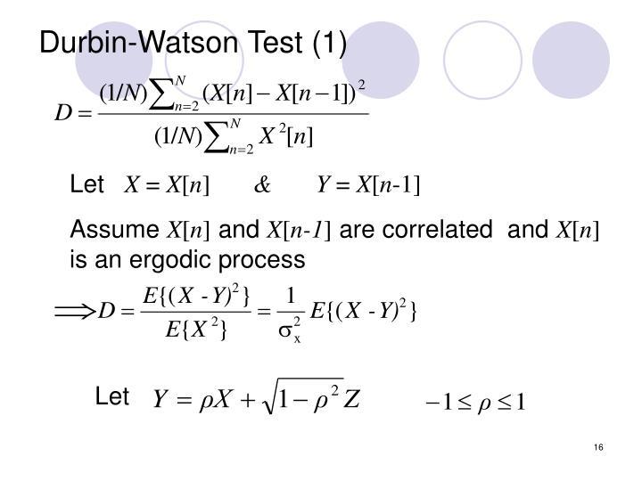Durbin-Watson Test (1)