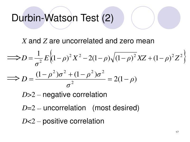 Durbin-Watson Test (2)