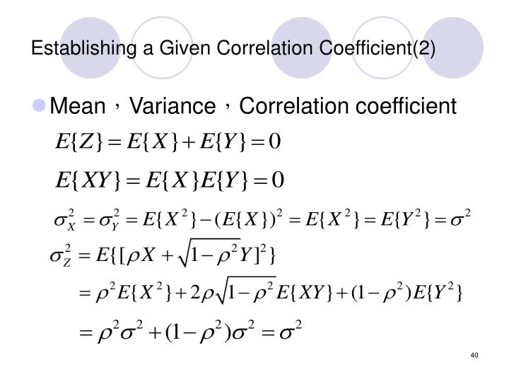 Establishing a Given Correlation Coefficient(2)