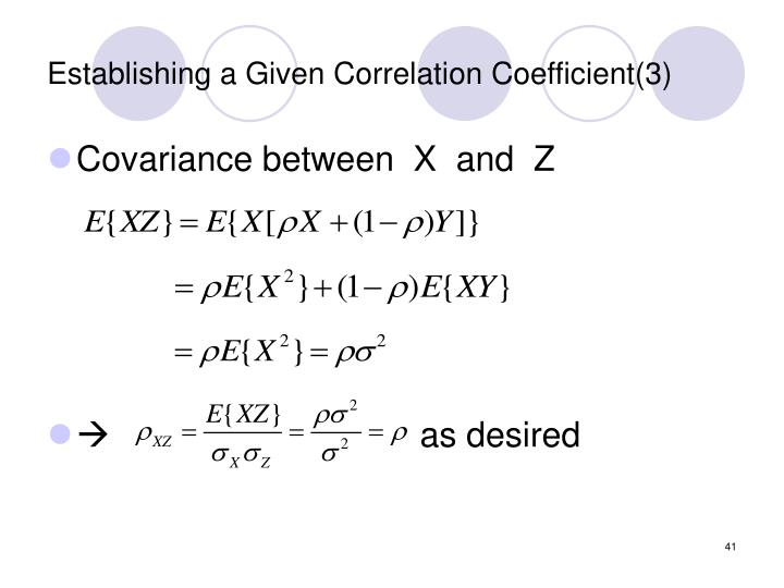Establishing a Given Correlation Coefficient(3)