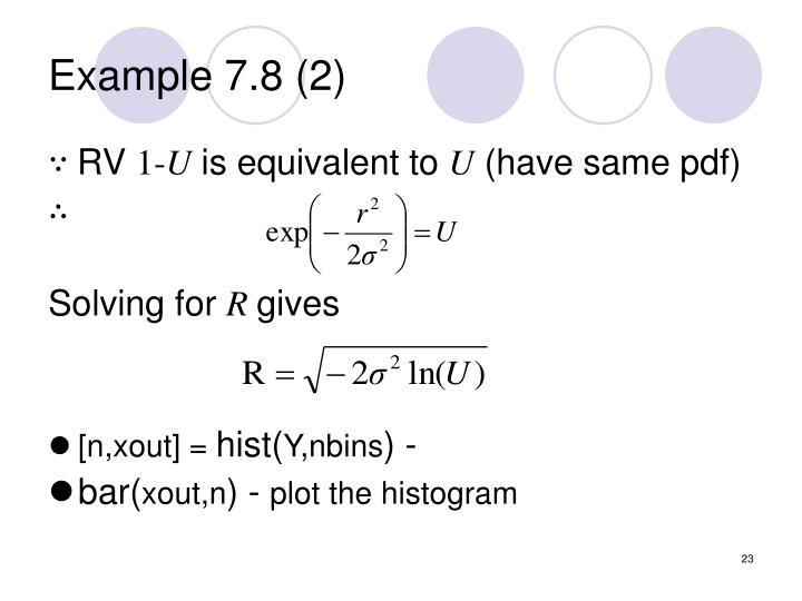 Example 7.8 (2)