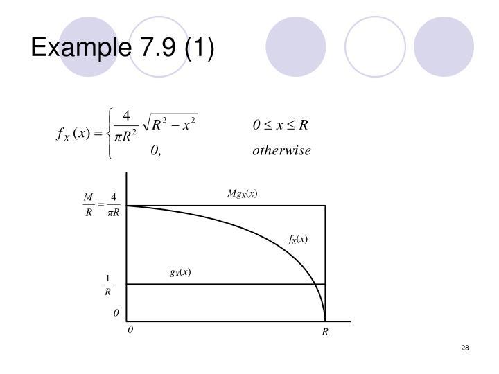 Example 7.9 (1)