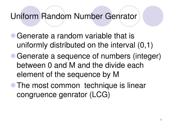 Uniform Random Number Genrator