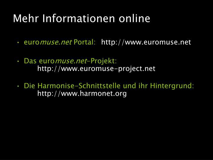 Mehr Informationen online