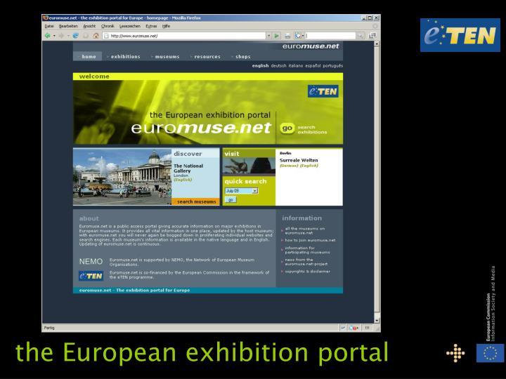 the European exhibition portal