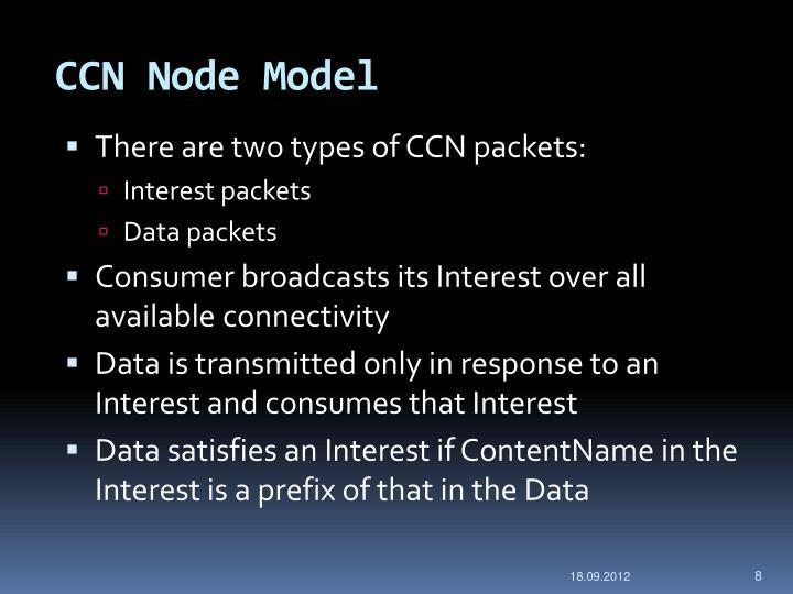 CCN Node Model