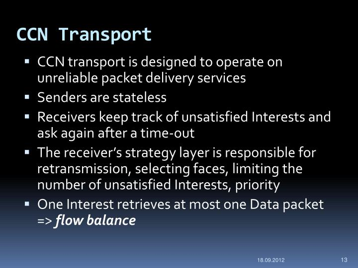 CCN Transport