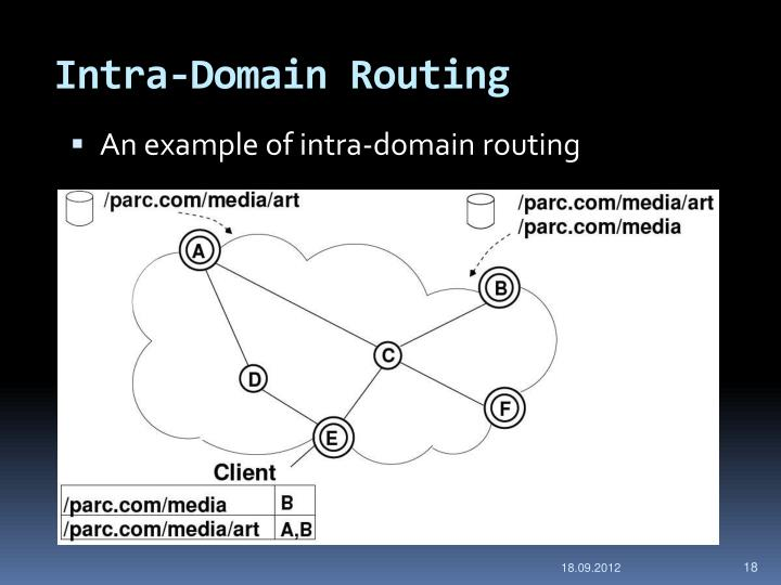 Intra-Domain Routing