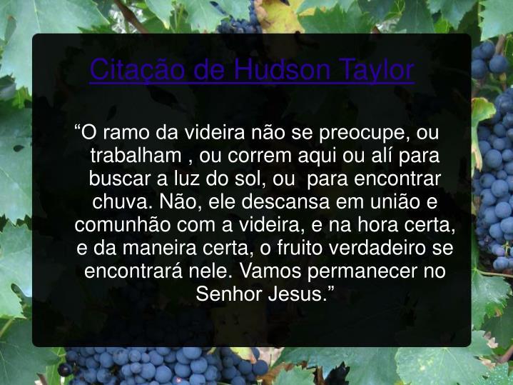 Citação de Hudson Taylor