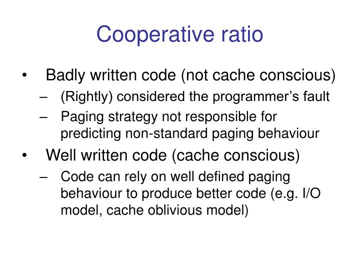 Cooperative ratio