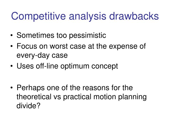 Competitive analysis drawbacks