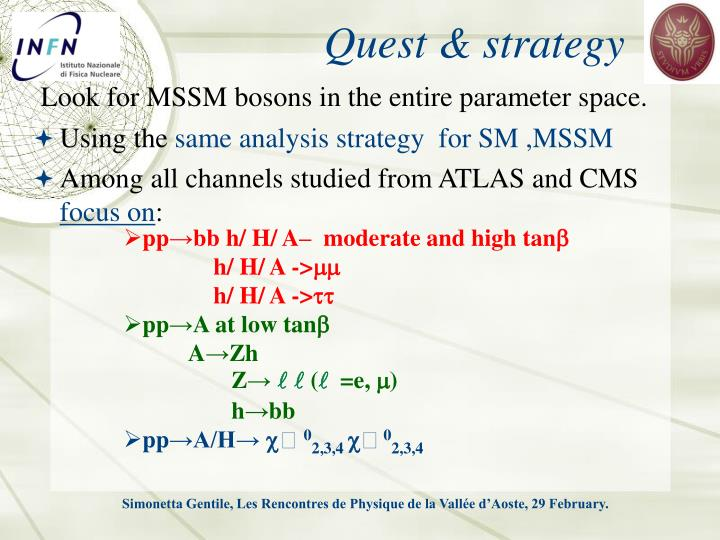 Quest & strategy