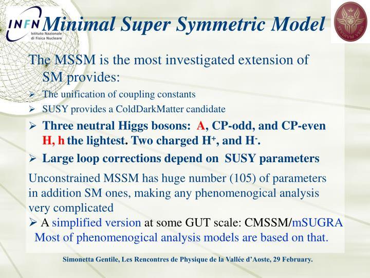 Minimal Super Symmetric Model