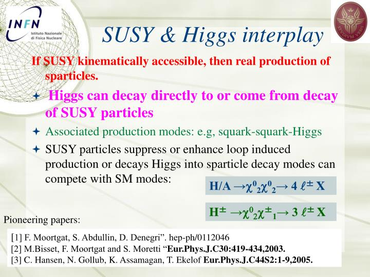 SUSY & Higgs interplay