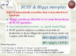 susy higgs interplay