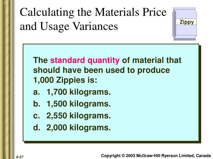 Calculating the Materials Price
