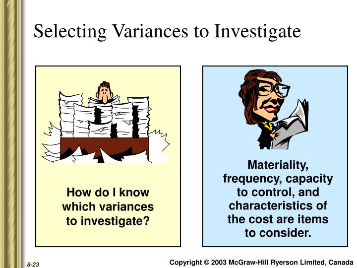 Selecting Variances to Investigate