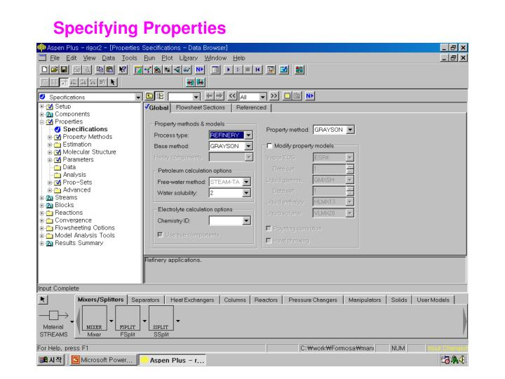 Specifying Properties