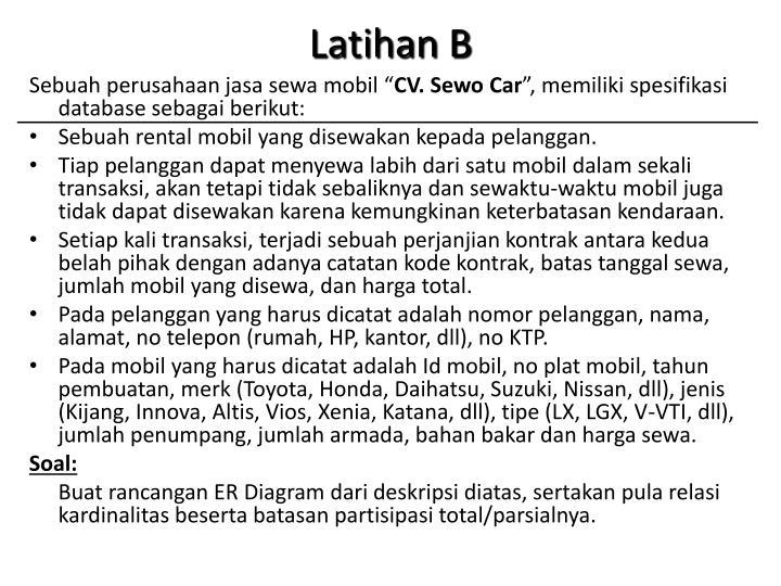 Latihan B