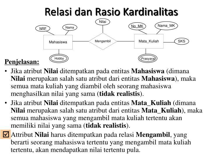 Relasi dan Rasio Kardinalitas