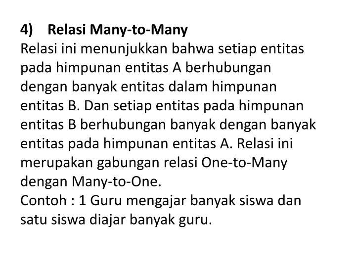 4) Relasi Many-to-Many