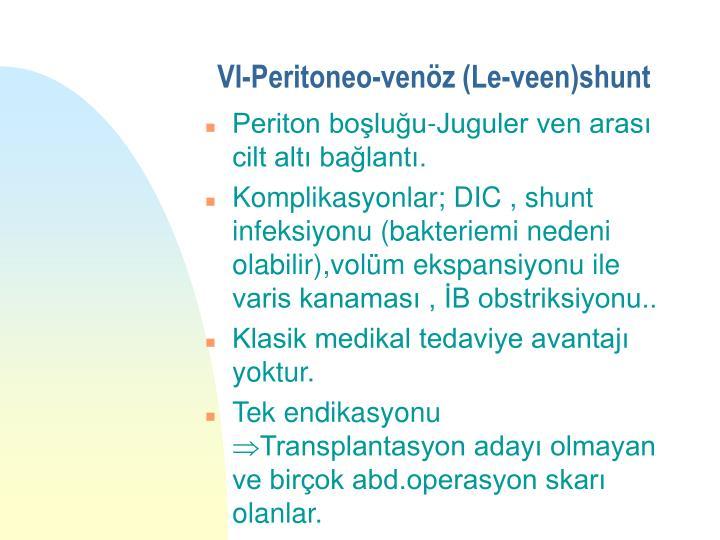 VI-Peritoneo-venöz (Le-veen)shunt