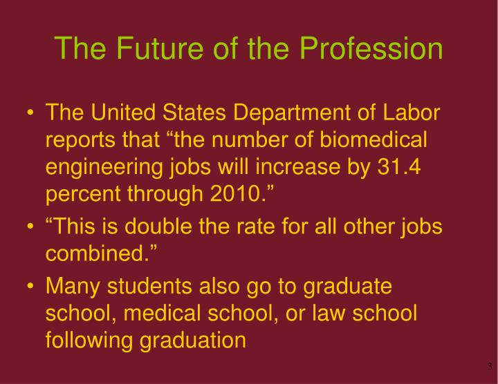 The future of the profession