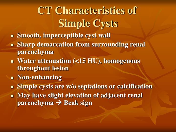 CT Characteristics of