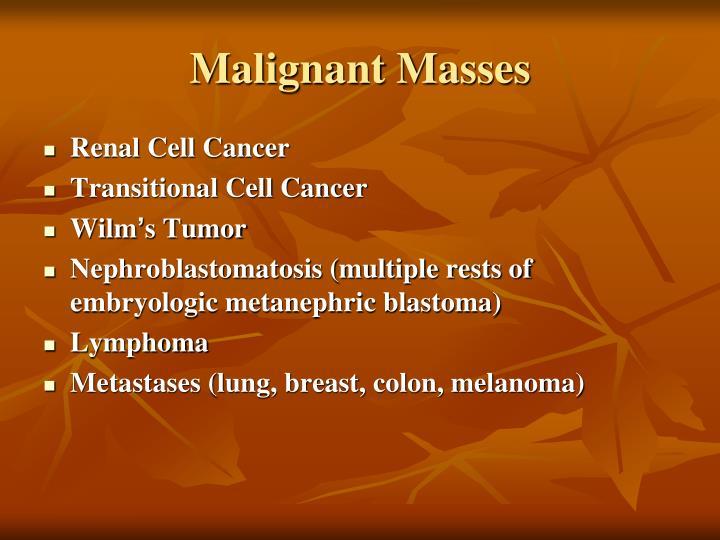 Malignant Masses