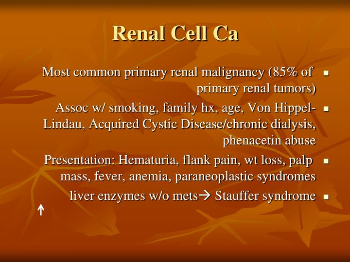 Renal Cell Ca