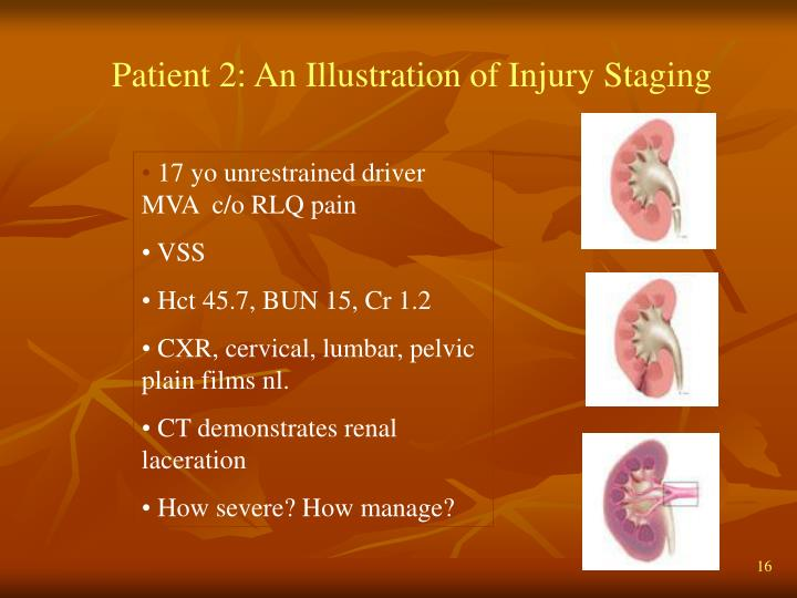 Patient 2: An Illustration of Injury Staging
