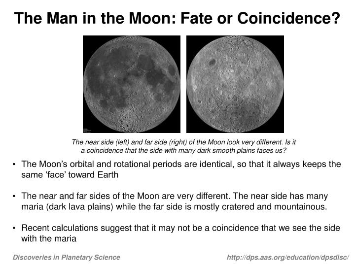 The man in the moon fate or coincidence