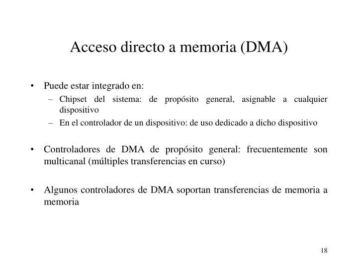 Acceso directo a memoria (DMA)