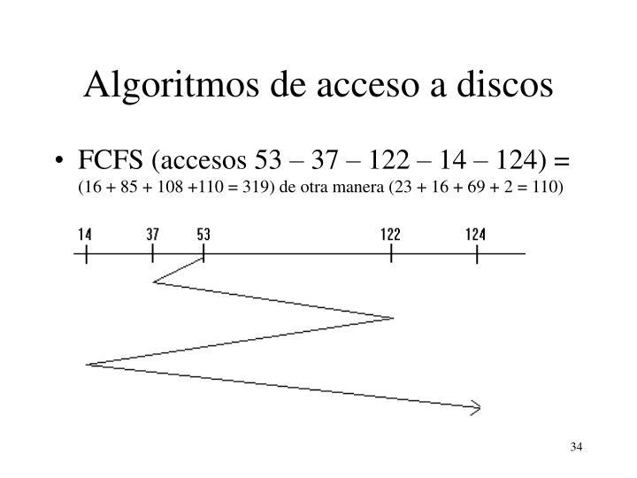 Algoritmos de acceso a discos