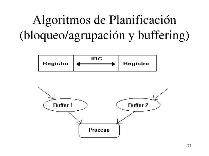 Algoritmos de Planificación (bloqueo/agrupación y buffering)