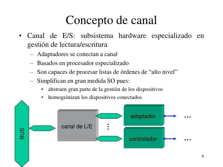 Concepto de canal