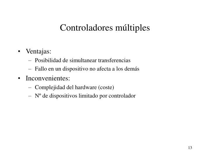 Controladores múltiples
