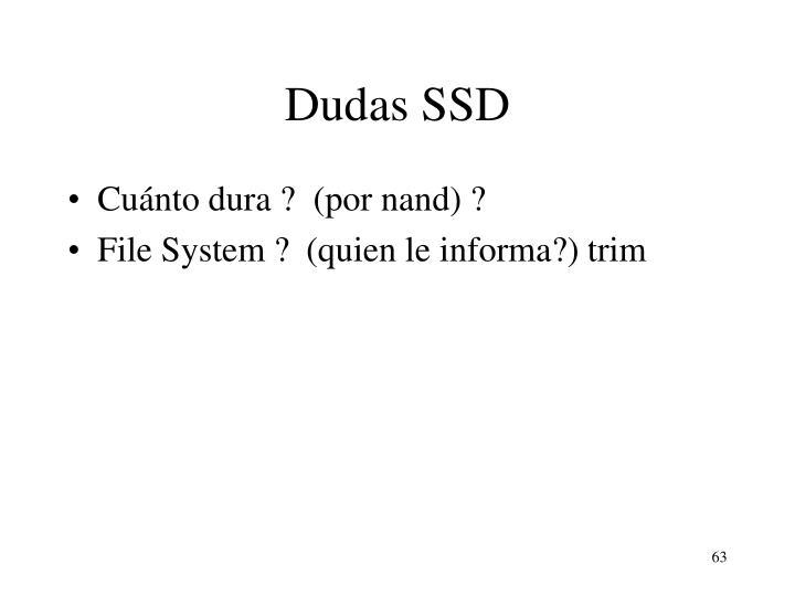 Dudas SSD