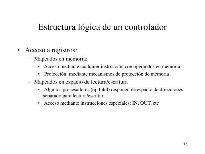 Estructura lógica de un controlador