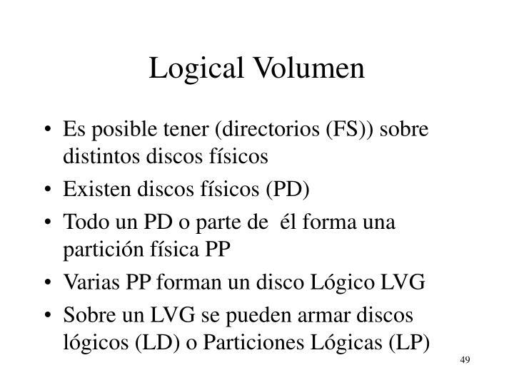 Logical Volumen