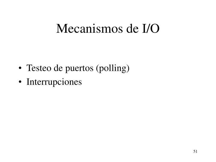Mecanismos de I/O