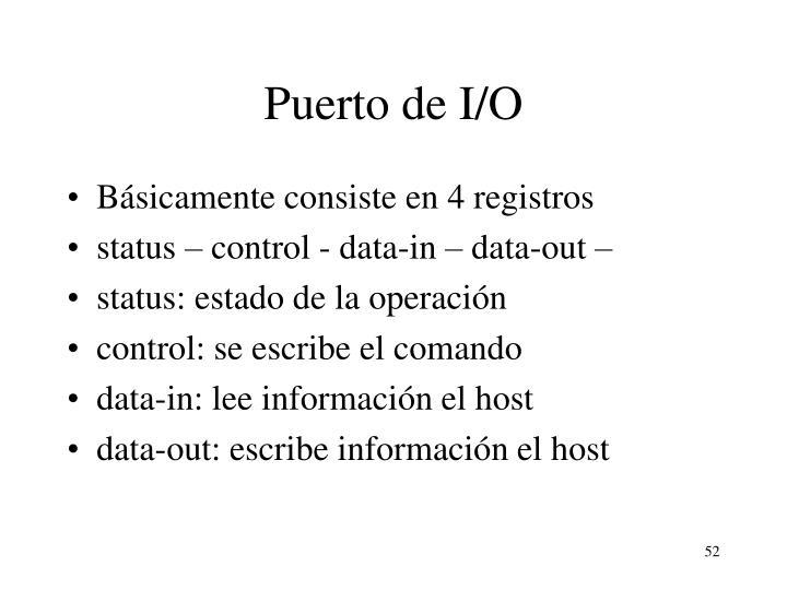 Puerto de I/O