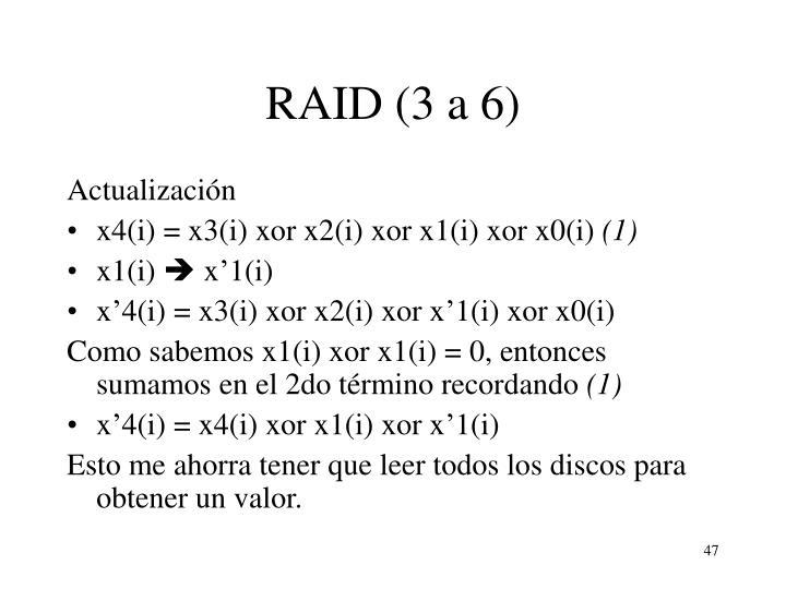 RAID (3 a 6)